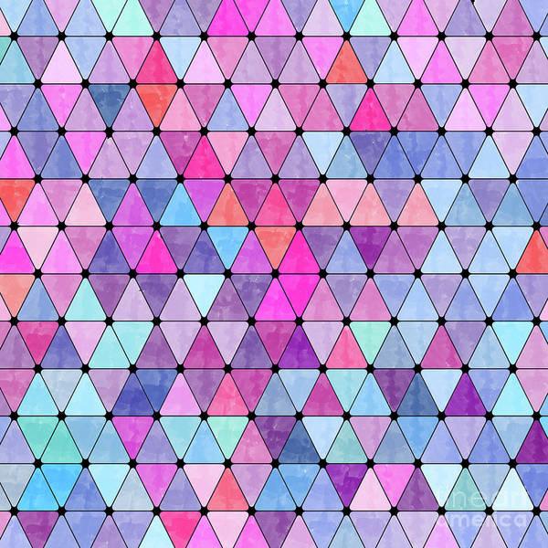 Wall Art - Digital Art - Lovely Geometric Background by Amir Faysal