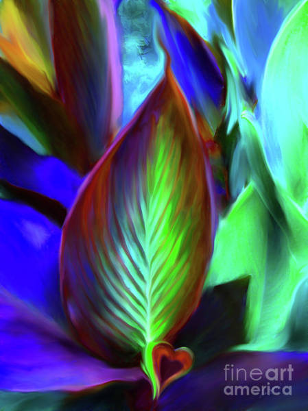 Digital Art - Love'ly Leaves by Lisa Redfern