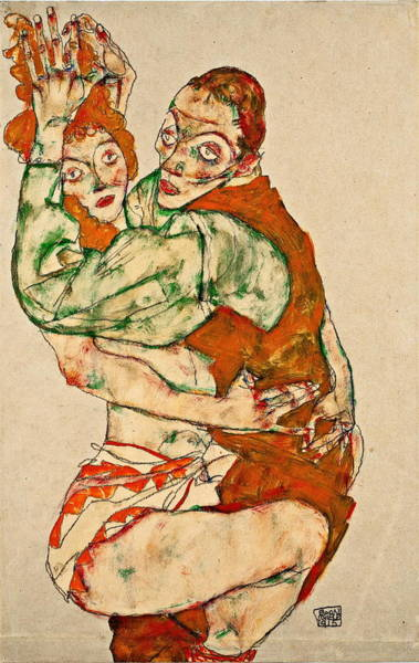 Having Sex Painting - Lovemaking 1915 by Egon Schiele