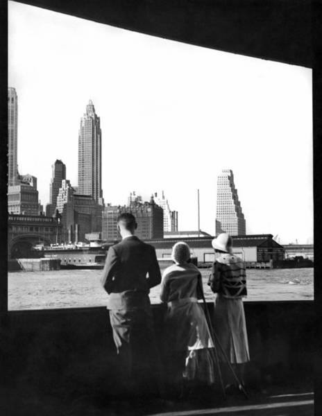 Lower Manhattan Photograph - Lower Manhattan Skyline by Underwood Archives