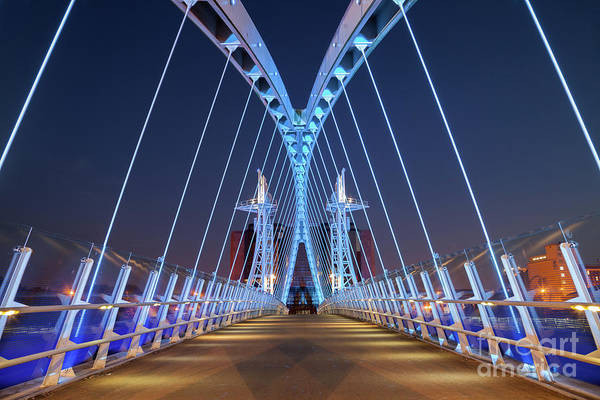 Lowry Photograph - Lowry Bridge, Salford Quays by Martin Williams