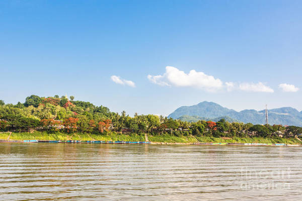 Photograph - Luang Prabang From The Mekong River by Didier Marti