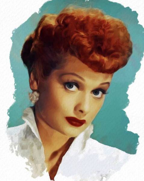 Wall Art - Painting - Lucille Ball, Actress by Mary Bassett