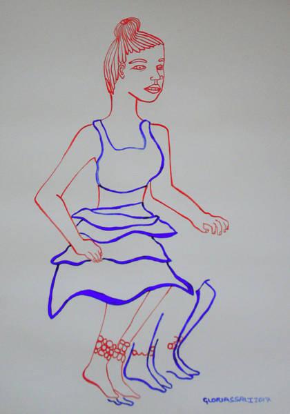 Painting - Luo Dance Of The Acholi Uganda by Gloria Ssali