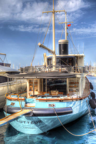 Wall Art - Photograph - Lutteur Motor Yacht by David Pyatt