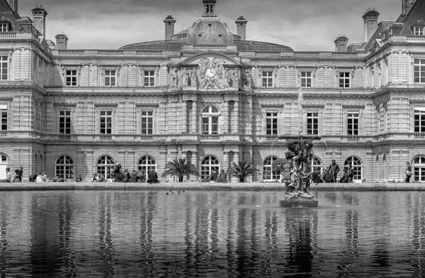 Wall Art - Photograph - Luxembourg Palace In Mono by Georgia Fowler