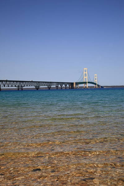 St Ignace Wall Art - Photograph - Mackinac Bridge by Frank Romeo