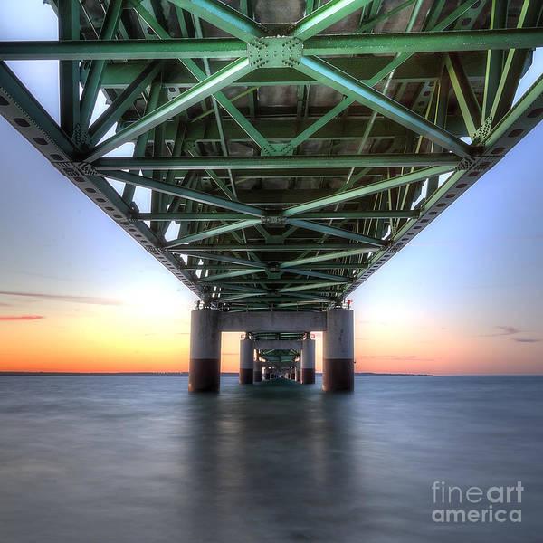 Upper Peninsula Wall Art - Photograph - Mackinac Bridge by Twenty Two North Photography