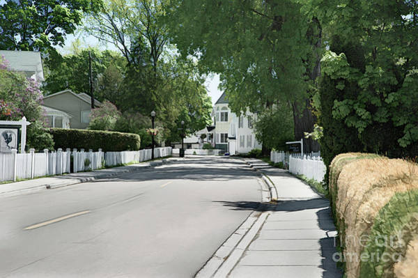 Digital Art - Mackinac Island Street  by Ed Taylor