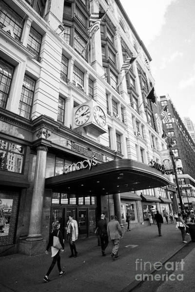 Wall Art - Photograph - macys department store herald square entrance New York City USA by Joe Fox