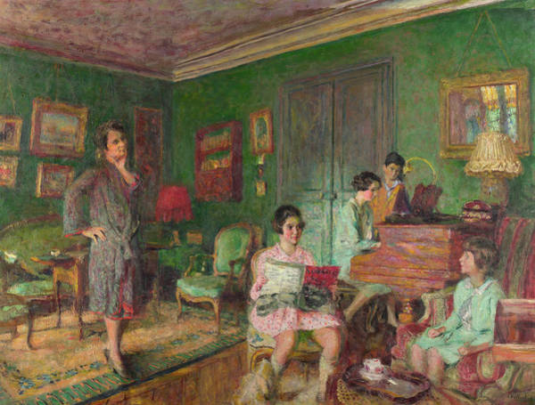 Pleasing Wall Art - Painting - Madame Andre Wormser And Her Children by Edouard Vuillard