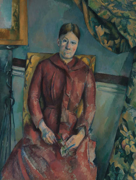 Painting - Madame Cezanne In A Red Dress by Paul Cezanne