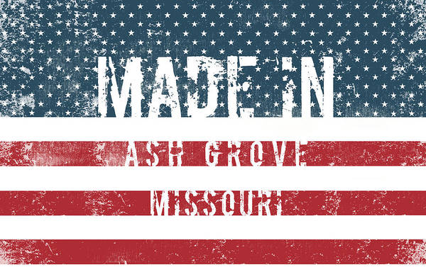 Ashes Digital Art - Made In Ash Grove, Missouri by Tinto Designs