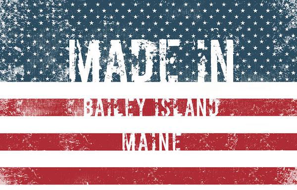 Bailey Digital Art - Made In Bailey Island, Maine by Tinto Designs