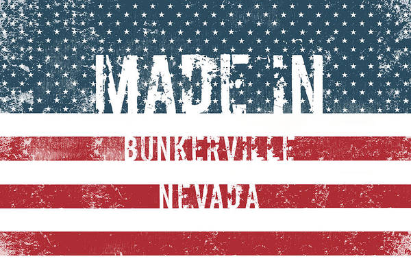 Nv Digital Art - Made In Bunkerville, Nevada by Tinto Designs