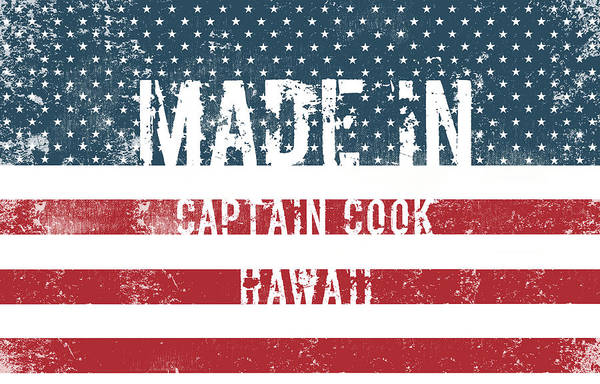 Captain Cook Digital Art - Made In Captain Cook, Hawaii by Tinto Designs
