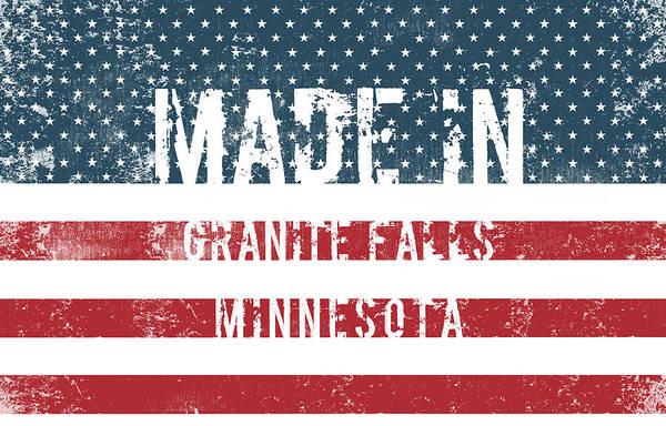 Granite Digital Art - Made In Granite Falls, Minnesota by Tinto Designs