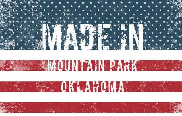 Ok Digital Art - Made In Mountain Park, Oklahoma by Tinto Designs