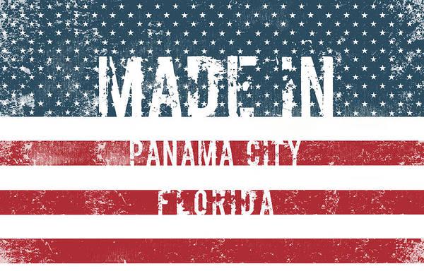 Panama Digital Art - Made In Panama City, Florida by Tinto Designs