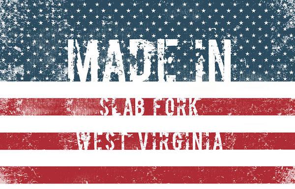 Fork Digital Art - Made In Slab Fork, West Virginia by Tinto Designs