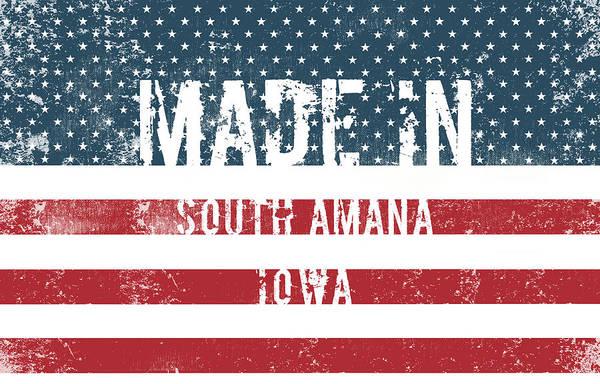 Amana Wall Art - Digital Art - Made In South Amana, Iowa by Tinto Designs