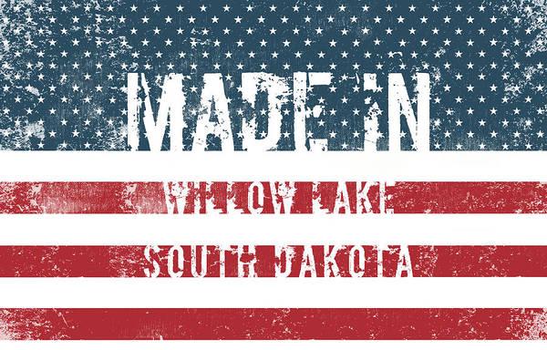 South Lake Digital Art - Made In Willow Lake, South Dakota by Tinto Designs