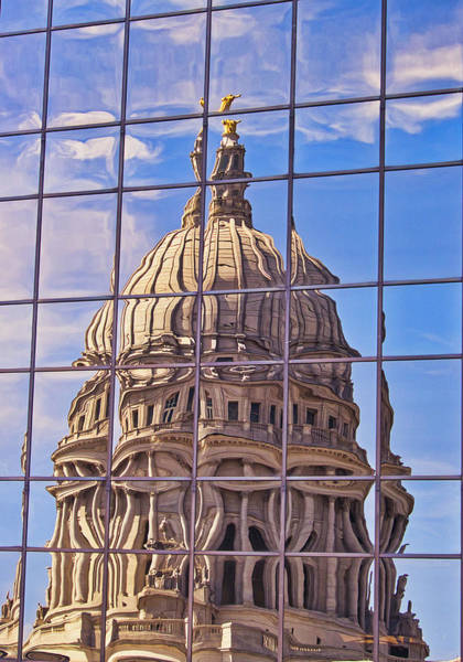 Photograph - Madison Capitol Reflection by Steven Ralser