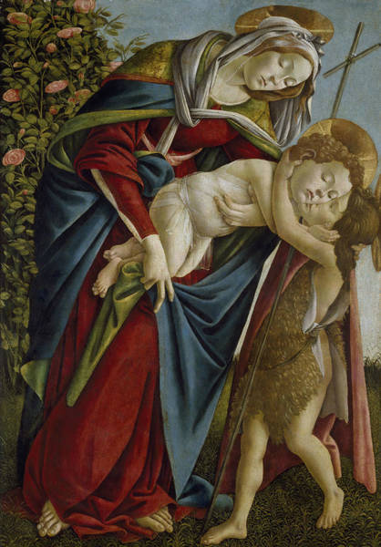 Painting - Madonna And Child And The Young St John The Baptist by Sandro Botticelli