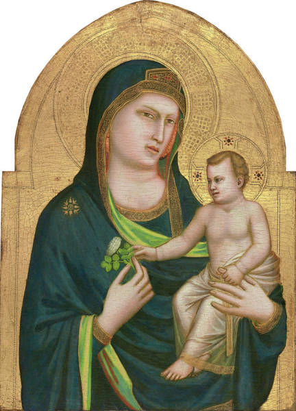 Painting - Madonna And Child by Giotto