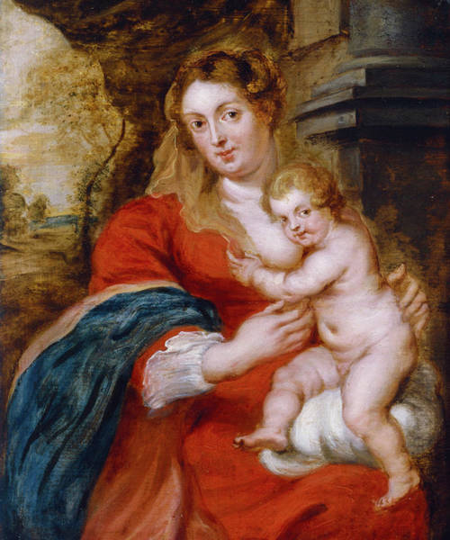 Painting - Madonna And Child by Peter Paul Rubens