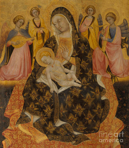 Wall Art - Painting - Madonna And Child With Angels by Pietro di Domenico da Montepulciano