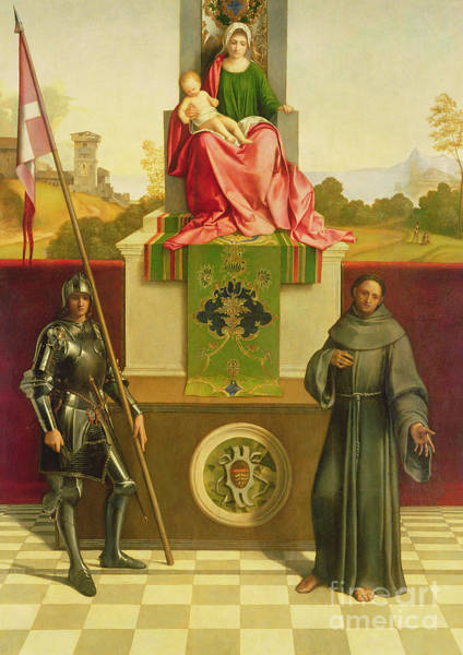 Wall Art - Painting - Madonna And Child With Saints Liberale And Francis by Giorgione