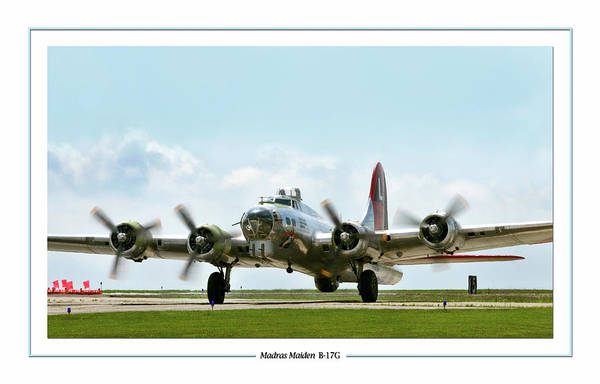 Bomber Photograph - Madras Maiden B-17  by Peter Chilelli