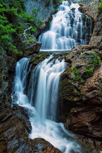 Montain Photograph - Majestic Fall Crystal Cascade Pinkham Notch Nh by Jeff Sinon