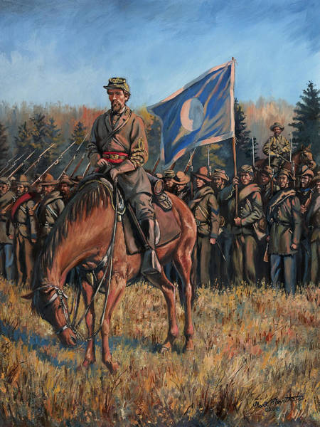 Wall Art - Painting - Major General Patrick R. Cleburne - Battle Of Franklin, Tennesse by Mark Maritato