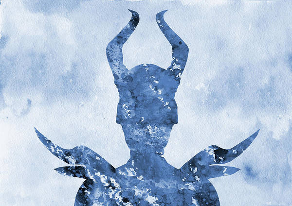 Maleficent Digital Art - Maleficent-blue by Erzebet S