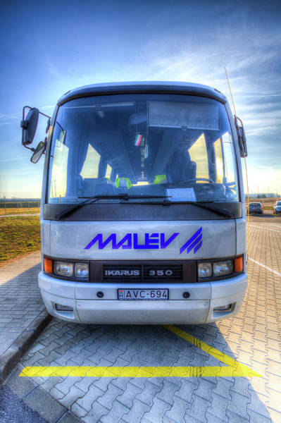 Wall Art - Photograph - Malev Airlines Bus by David Pyatt