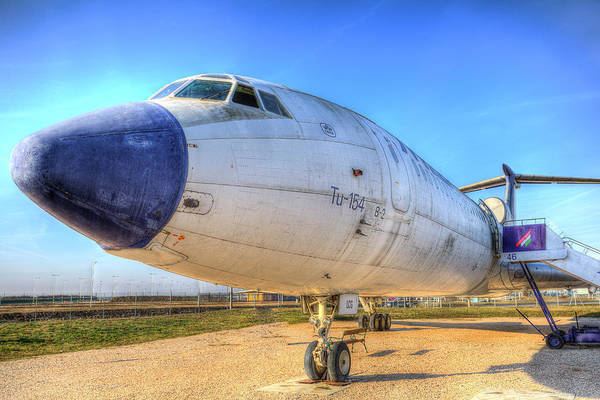 Wall Art - Photograph - Malev Tupolev Tu-154 by David Pyatt