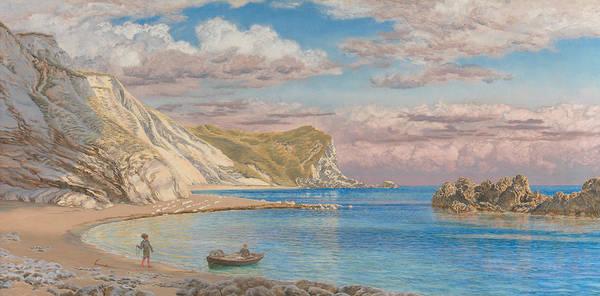 Brett Wall Art - Painting - Man Of War Rocks, Coast Of Dorset by John Brett