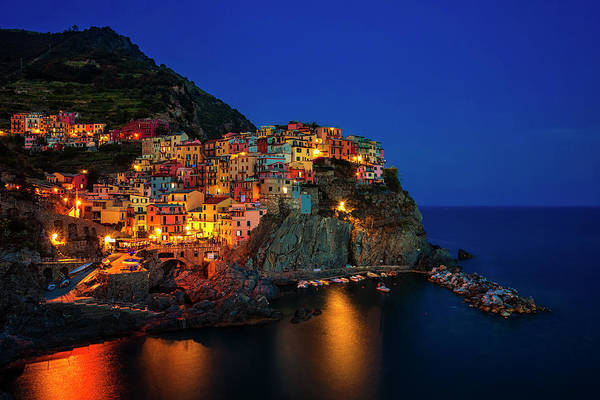 Wall Art - Photograph - Manarola At Twilight by Andrew Soundarajan