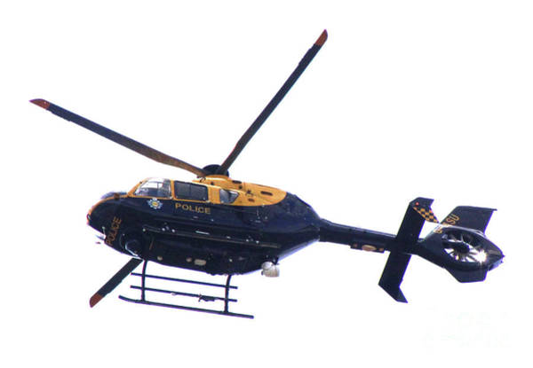 Kimberley Airport Photograph - Manchester Police Helicopter - Uk by Doc Braham