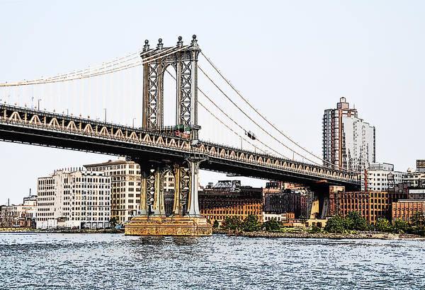 Photograph - Manhattan Bridge 1.2 - New York by Frank Mari