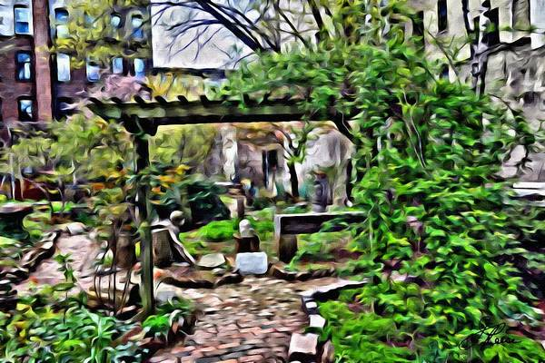 Photograph - Manhattan Community Garden by Joan Reese