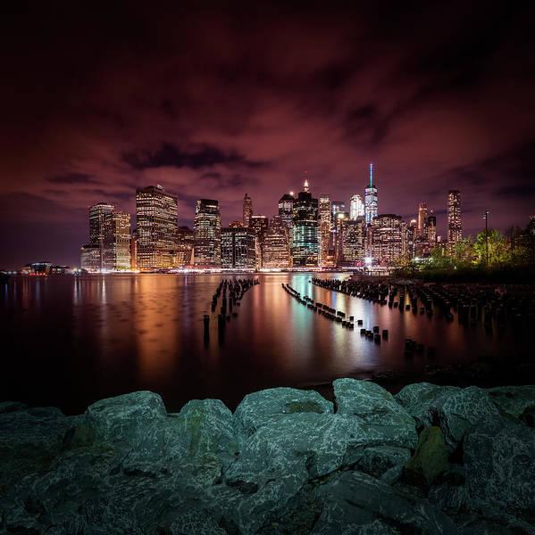 Wall Art - Photograph - Manhattan Skyline Evening Atmosphere In New York City  by Melanie Viola