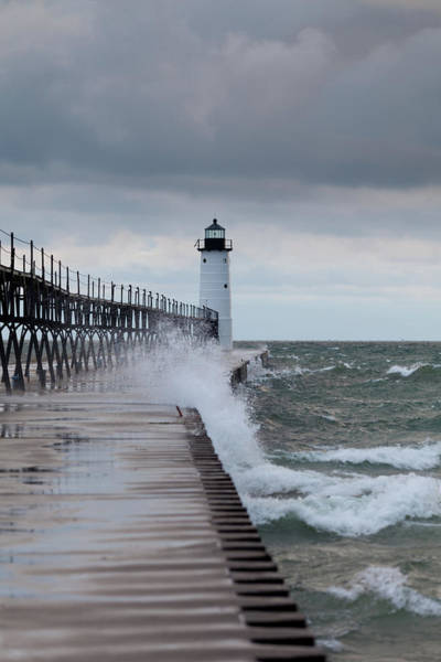 Photograph - Manistee Pierhead Lighthouse-6 by Fran Riley