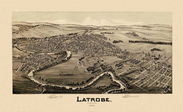 Photograph - Map Of Latrobe 1900 by Andrew Fare