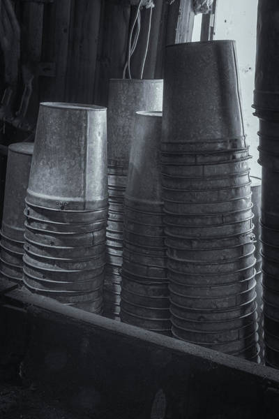Photograph - Maple Syrup Buckets by Tom Singleton