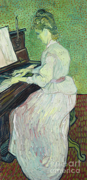 Wall Art - Painting - Marguerite Gachet At The Piano, 1890  by Vincent Van Gogh