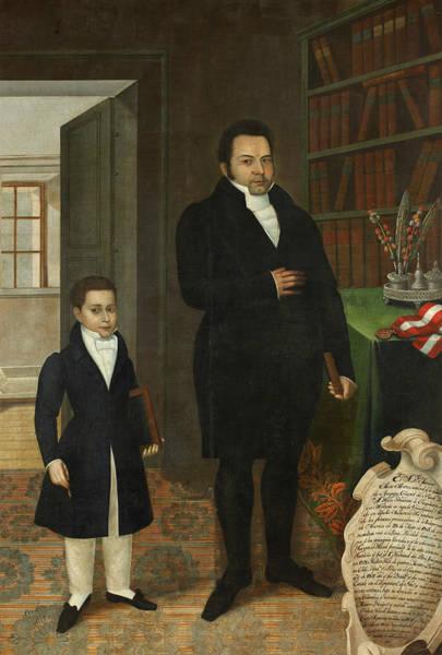 Painting - Mariano Alejo Alvarez And His Son by Jose Gil de Castro