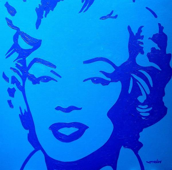 Norma Wall Art - Painting - Marilyn by John  Nolan